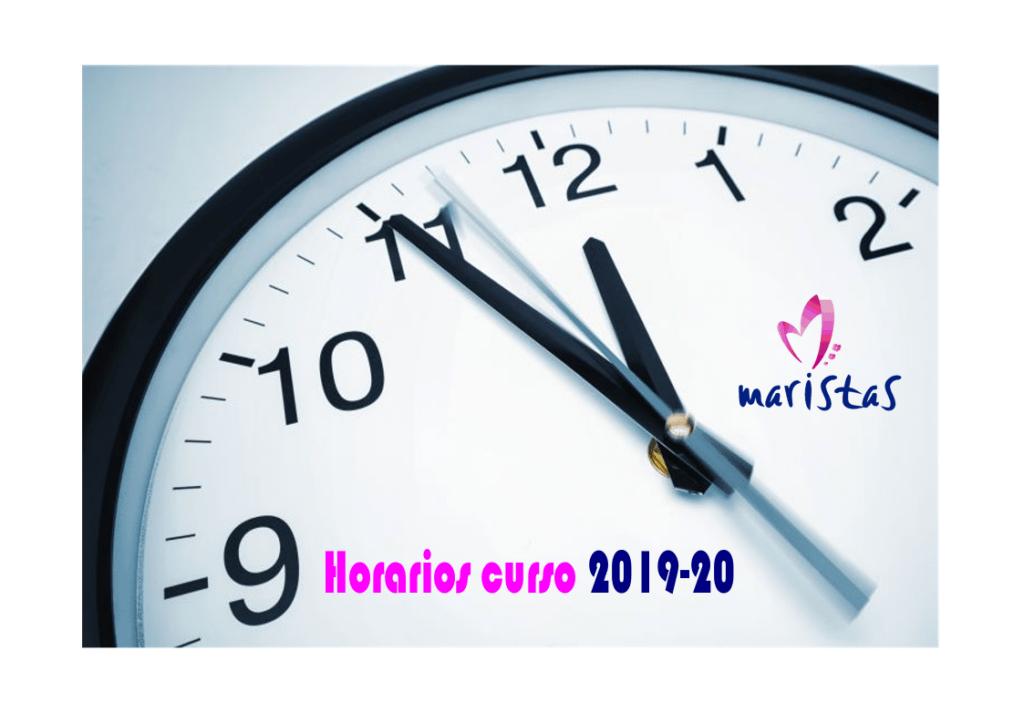 Noticia horarios 2019-20